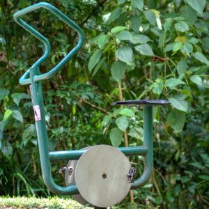 Bicicleta estática instalada